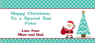 Personalised Christmas Gift Wallet for Money, Vouchers, Concert Tickets etc. Design 4
